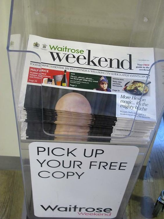 This is why you never put bald guy on the cover of a newspaper.