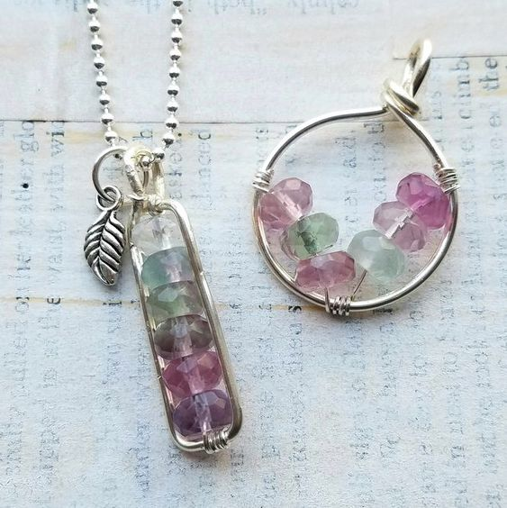 Simple, trendy, and so calming to look at! Can not wait to make a couple of these at the April Bead & Wine night tonight  at our Hagerstown, MD location #artclasses #potomacbeads #gemstones #handmadejewelry #jewellry