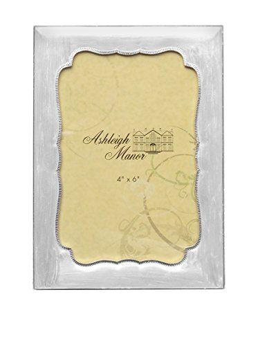 "Ashleigh Manor 4"" x 6"" Enamel Classic Frame, White"