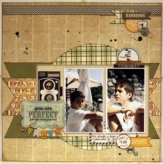 YOU ARE PERFECT - Scrapbook.com -Wendy Schultz onto Scrapbook Layout's.