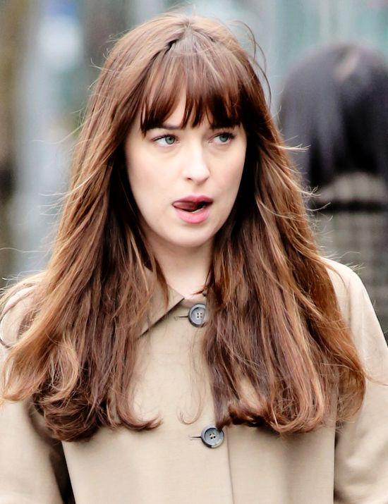 """ ""March 14: Dakota Johnson films Fifty Shades Darker. (x) "" """