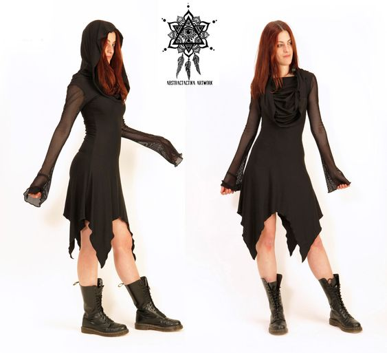 Mesh cowl neck dress. Post Apocalyctic.  gothic dress, gothic clothing. cyber punk. dystopian dress. faery dress. game of thrones. cowl neck by AbstractikaCrafts on Etsy https://www.etsy.com/listing/260885317/mesh-cowl-neck-dress-post-apocalyctic