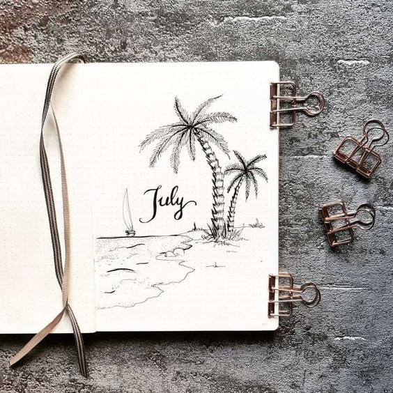 30 idées pour votre montly cover de Juillet
