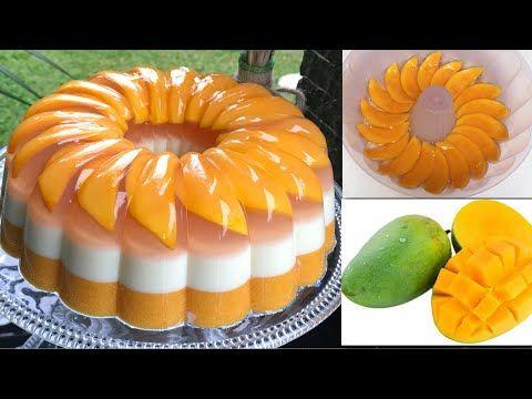 Mango Puding 3 Tầng Mango Pudding Recipes Youtube Di 2021 Puding Mangga Puding Mango