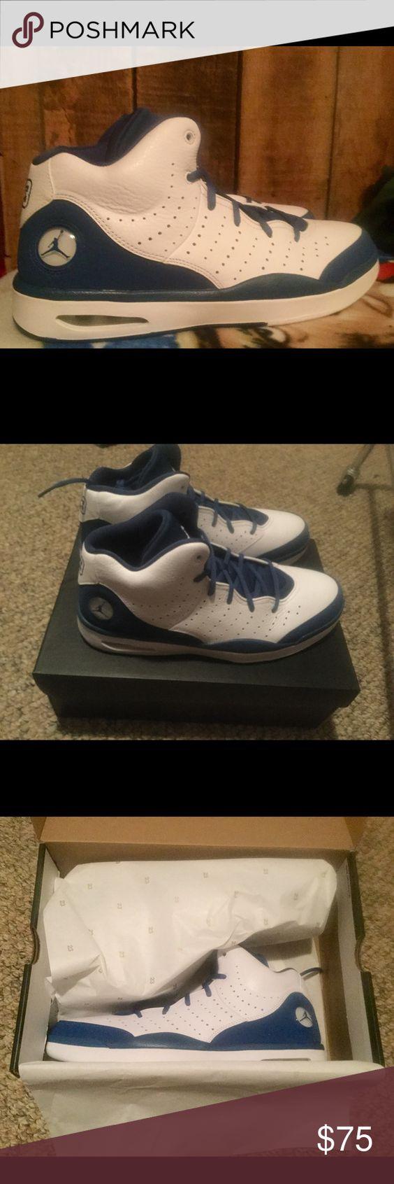 NWT authentic Men's size 12 Jordan Flight shoes Brand new, still in original packaging authentic Jordan Flight shoes. Men's size 12, colors French Blue/White Jordan Shoes Athletic Shoes