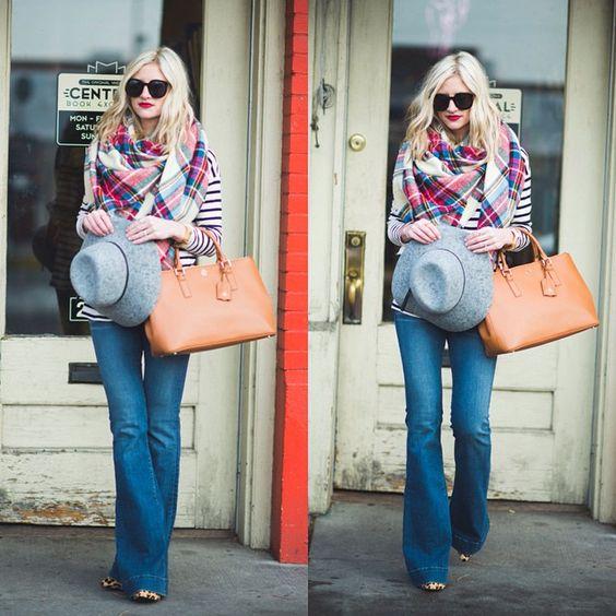 """""""Combining three classic prints in today's post on LittleMissFearless.com.  @liketoknow.it www.liketk.it/QxM4 #liketkit #plaid #stripes #leopard #ootd…"""""""