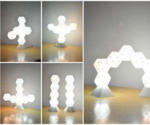 Dodecado is a building block of LED light that allows you to design your own light sculptures in your living space. Its magnetic properties allow you to stick it onto any side of another Dodecado or any other magnetic surface. Each pentagonal side of the Dodecado allows for versatility when fashioning your light sculpture.  Dodecado lights up as you stack in any direction. It is powered by 1Watt LED and its diffusive optical property allows for uniform light distribution, making it the…