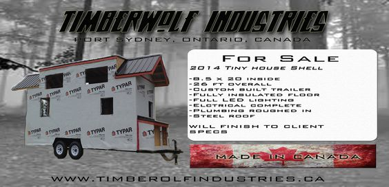 TimberWolf Industries Tiny House Shells For Sale Tiny House