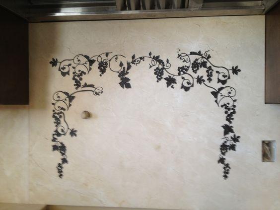 engraved back splash