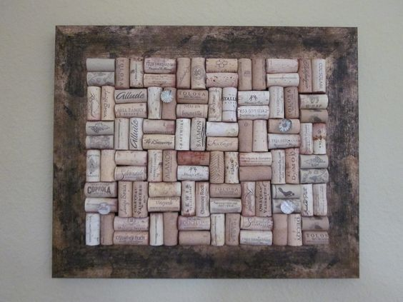 Wine Cork board with rustic frame. $45.00, via Etsy.