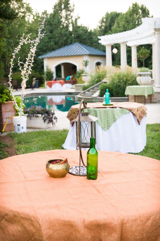 Backyard Wedding Table Decor
