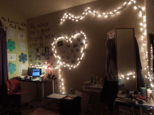 i want lights strung up in my room!!