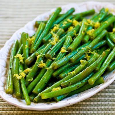 Recipe for Lemony Green Beans (Green Beans with Lemon Juice and Lemon Zest) via KalynsKitchen.com