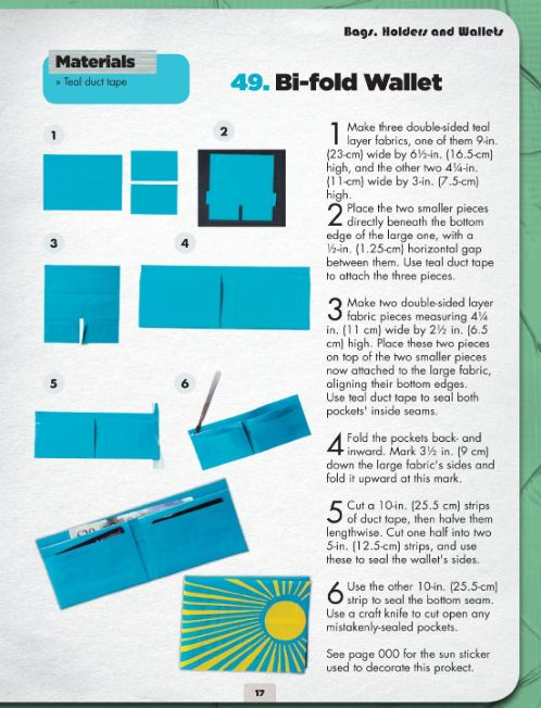 Playful image throughout duct tape wallet instructions printable