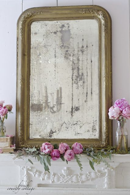 French Country Cottage Antique Mantel