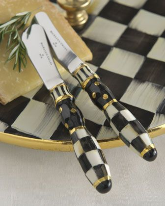 Courtly check canape knives by mackenzie childs at neiman for Canape knife set