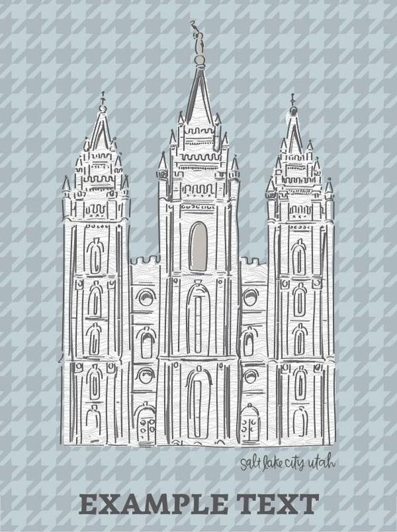 This quilt is the perfect way to show your love for the Salt Lake Temple! Make it a unique gift by adding text or a couple's name or wedding/sealing date. It is sure to be treasured! Designed by Alexa