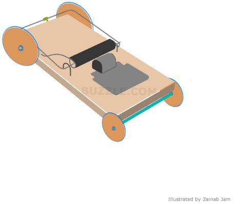 how to make a mousetrap car move forward