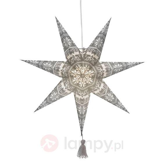 Papierowa gwiazda TÄRNABY z szarym wzorem 1522765