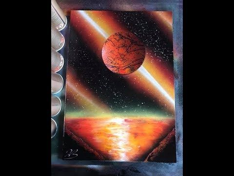 How To Spray Paint Art Planet For Beginners By Jon Barber Youtube Spray Paint Art Art Painting Spray Painting