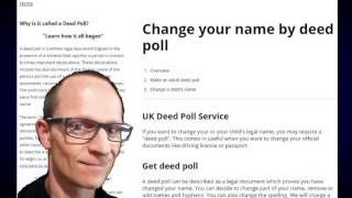 If you are a British Citizen, whether you're living in UK or abroad, there are no restrictions for you to apply for a deed poll, so long as you are over 16 years old. Anyone living in the UK,http://deedpoll.ltd.uk/what-is-the-eligibility-for-deed-poll-application/ or https://www.facebook.com/pages/Change-your-name-by-deed-poll/1617252885211036