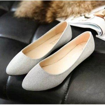 Bling bonbons couleur Ballet Flat Shoes