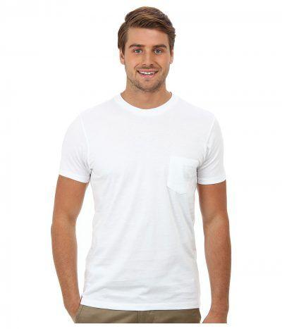 Alternative - Perfect Pocket Tee (White) Men's Short Sleeve Pullover
