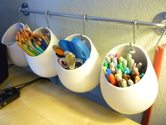 Ikea asker container white and bygel rail silver color home pinterest colors pens and - Ikea container home ...