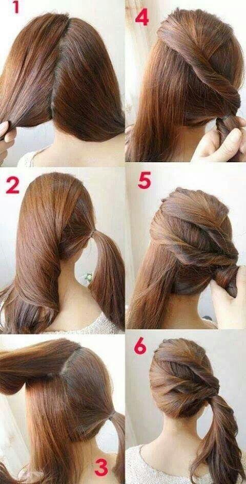 Astonishing Cool Hair Side Ponytails And Hair Tutorials On Pinterest Short Hairstyles Gunalazisus
