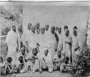 Indian women in Suriname, South America.