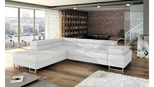 JUSTyou Tunis Canapé d\'angle Sofa canapé lit avec Coffre ...