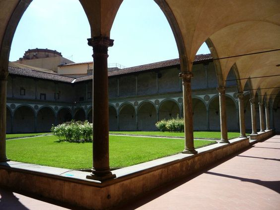 Courtyard at the Santa Croce Church