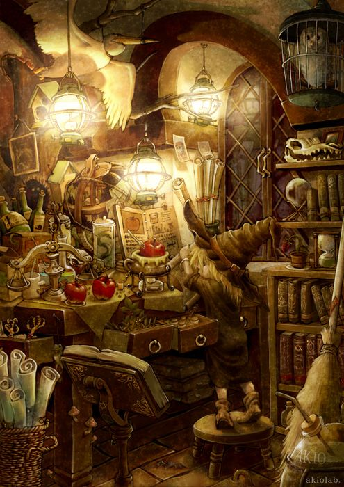 Pin By Ike On Imagenes Para Libro Fantasy Art Kitchen Witch Art
