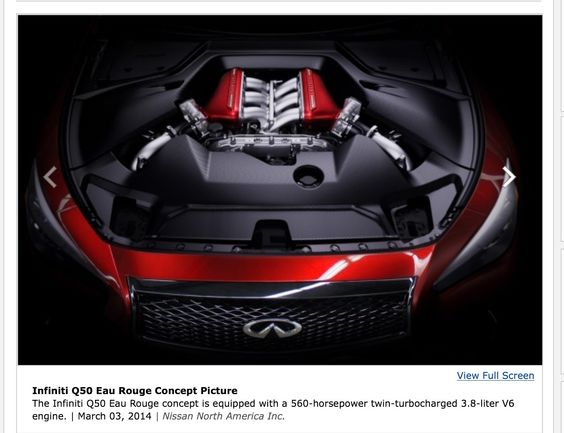 560HP (GTR) engine in the new Q50