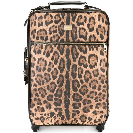 Dolce & Gabbana leopard print suitcase (58,910 MXN) ❤ liked on Polyvore featuring bags and luggage