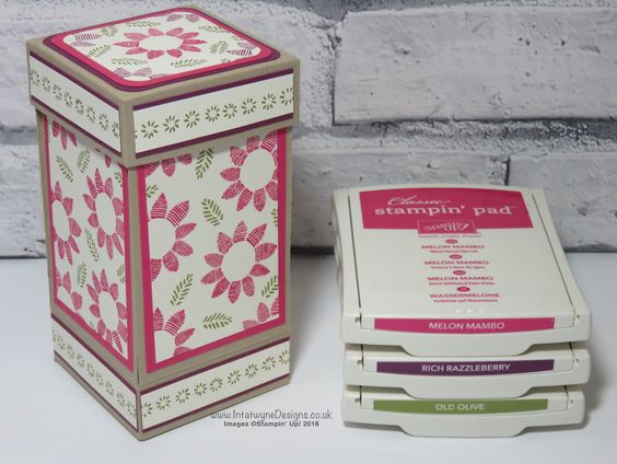 Exploding box with candle made using Lovely Stitching stamp set as part of the Pootles Design team for August