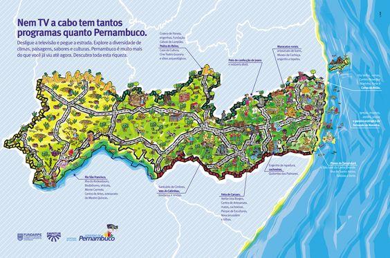 Mapa Físico de Pernambuco