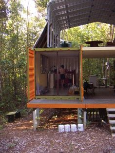 great article with step by step pics of container house construction