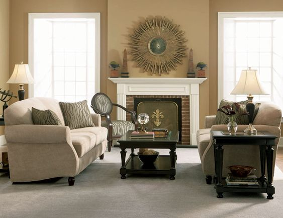 Blue And Beige Living Room | ... Luxury Living | Kitchen | Bathrooms |
