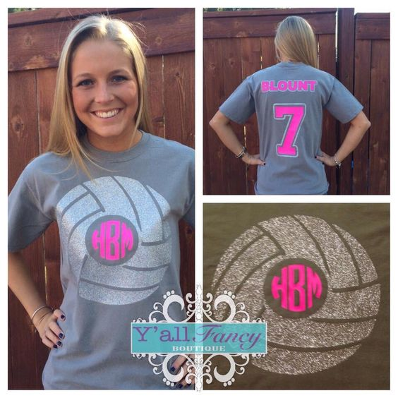 Volleyball SHORT SLEEVE Monogrammed Personalized Comfort Colors Tee - Y'all Fancy by YallFancyBoutique on Etsy https://www.etsy.com/listing/210461099/volleyball-short-sleeve-monogrammed