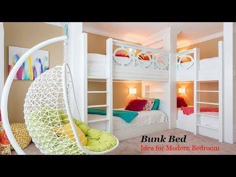 36 Bunk Bed Idea For Modern Bedroom Kids Room Bunk Beds Space Savi Modern Bunk Beds Cool Bunk Beds Unique Bunk Beds