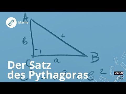 Der Satz Des Pythagoras Einfach Erklart Mathe Duden Learnattack Youtube Satz Des Pythagoras Mathe Schulkinder