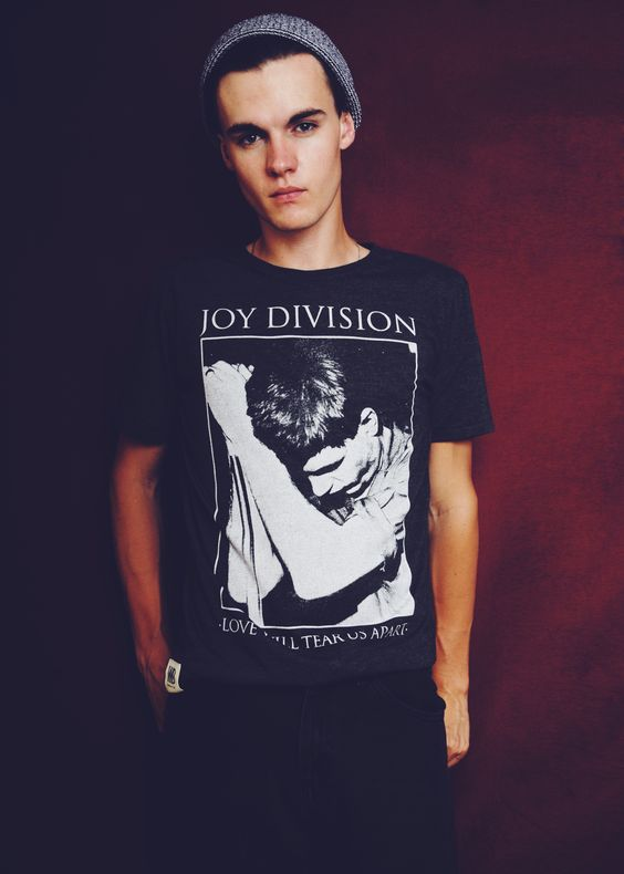 Worn By 'Ian Curtis Poster' T-Shirt £28  £30.00 http://www.wornby.co.uk/mens/tees/jd-poster-t-shirt.html #Unknownpleasures #joydivision #iancurtis