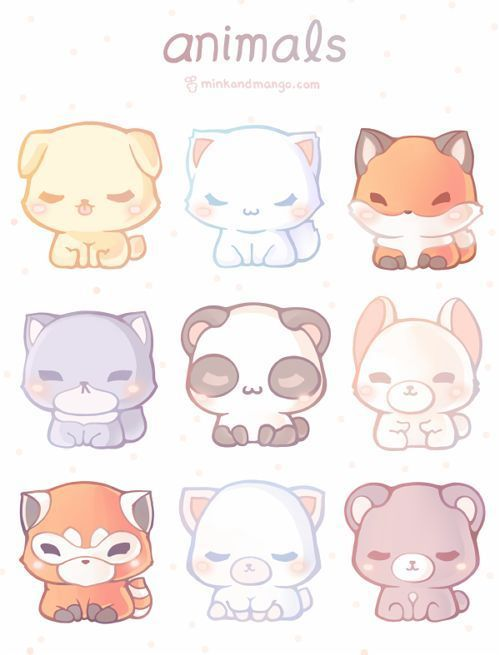 Pick One Must Name To Adopt I Have The Fox 8 9 Gone White Cat Is Gone Fox Is Gone Panda Cute Animal Drawings Animal Drawings Cute Animal Drawings Kawaii