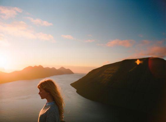 Sunset on the Faroe Islands