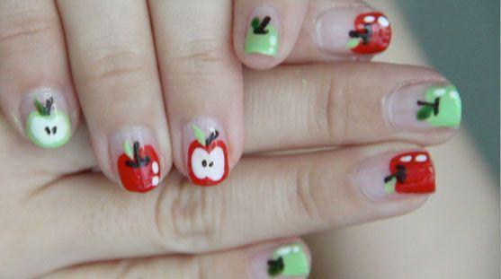 Bubzbeauty cute apple nails