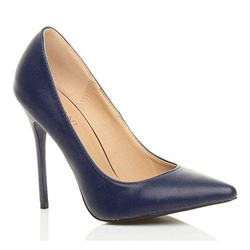 Damen Höher Absatz Kontrast Party Spitz Gepflegt Fesch Arbeit Pumps Schuhe 4 37 - http://on-line-kaufen.de/ajvani/37-eu-4-uk-damen-hoeher-absatz-kontrast-stilettos-19