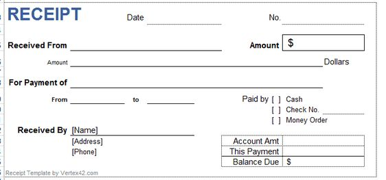 Professional Internal Audit Report Template Example with Blank - payment receipt