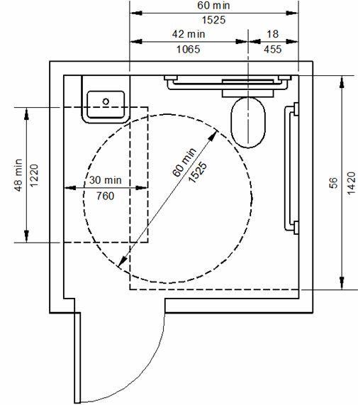 Populaire Kết quả hình ảnh cho handicap toilet design | Rule | Pinterest  HW44