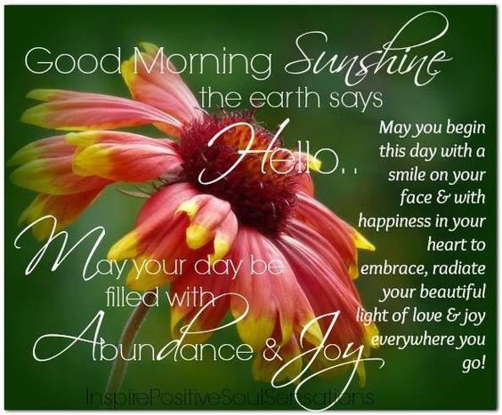 Good Morning Sunshine Quotes: Good Morning Sunshine Quotes
